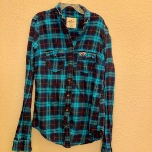 Blue and Red Plaid Flannel